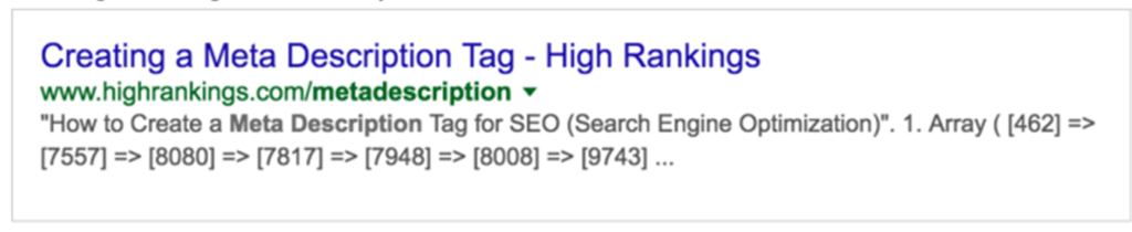 Develop a strong META Description